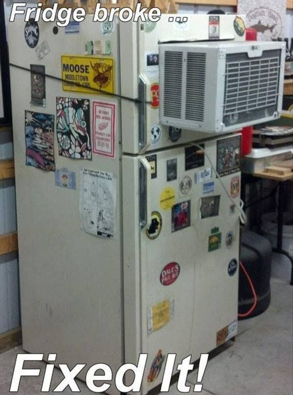how not to repair your broken fridge or freezer