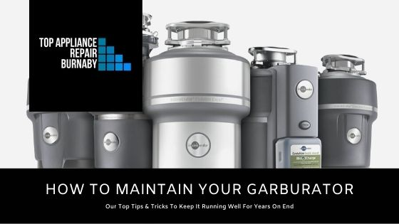 How to maintain your garburator blog banner image.